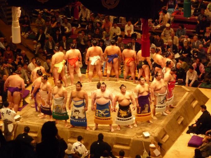 Familienferien in Japan, Teil 2, der Kinderumzug und das Sumoturnier