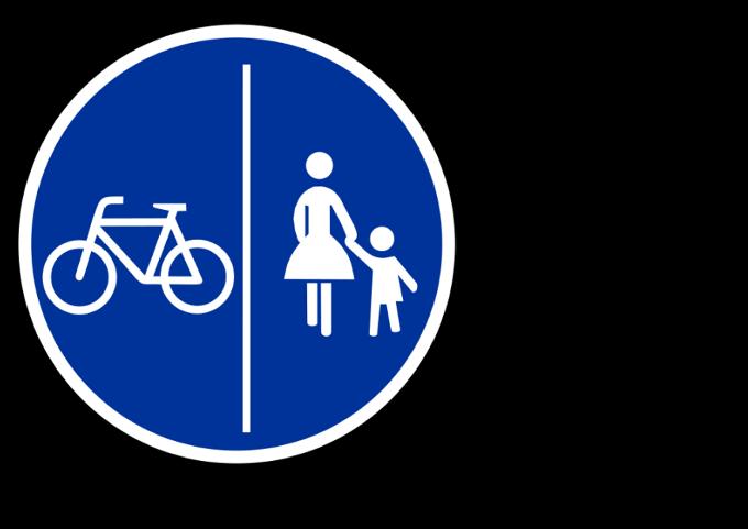 Radfahrende Kinder: Darf man sie auf dem Gehweg radelnd begleiten?